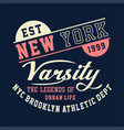new york varsity brooklyn athletic vector image vector image