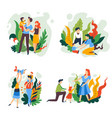 parenting goals and happy family spending quality vector image vector image