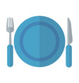 plate fork and knife as kitchen concept isolated vector image