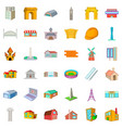 project icons set cartoon style vector image vector image