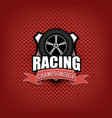 racing logo template design vector image