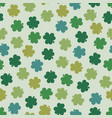 saint patricks day seamless background in retro s vector image vector image
