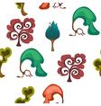 Seamless fantasy trees backdrop vector image vector image