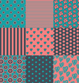 set nine simply seamless patterns vector image