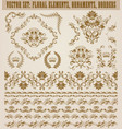set of damask ornaments vector image