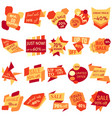 set of sale discount labels vector image