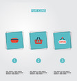 set of store icons flat style symbols with credit vector image