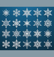 set paper snowflakes vector image vector image