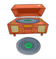sketched gramophone talking machine vintage vector image