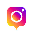 social media instagram camera icon in message vector image