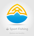 Sport fishing business icon vector image vector image