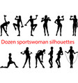 sport silhouettes fit vector image