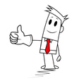 Square guy-Thumbs up vector image vector image
