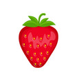 strawberry isolated on whit vector image vector image