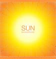 sun orange halftone circles background vector image