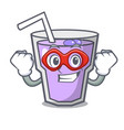 super hero berry smoothie character cartoon vector image