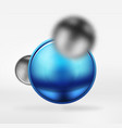 tech blurred spheres and round circles with glossy vector image vector image
