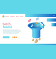 timely sales funnel definition horizontal banner vector image vector image