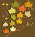 Tree shape calendar for 2015 vector image vector image