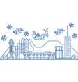 usa hawaii honolulu winter city skyline merry vector image vector image