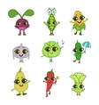 Vegetables Cartoon Characters Collection vector image vector image