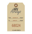 vintage luggage tags vector image vector image