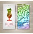 Watercolor decorative cocktail vector image vector image