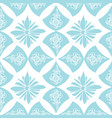 white and blue decorative abstract pattern vector image vector image