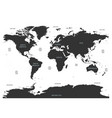 world map of oceans with labels of oceans seas vector image vector image