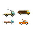 wrecker icon set flat style vector image