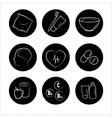 9 health icons medicine medical signs vector image