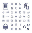 37 document icons vector image vector image
