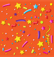 a orange party background vector image vector image