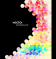 abstract mosaic modern flyer vector image vector image