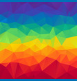 abstract polygonal square background rainbow vector image vector image