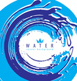Abstract water splash background mad vector image vector image