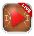 Application icon for live sports broadcasts or vector image vector image