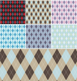 Argyle plaid pattern set vector | Price: 1 Credit (USD $1)