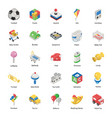 baby plaything accessories isometric icons pack vector image