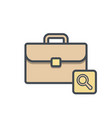bag briefcase business portfolio search vector image