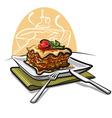 baked lasagna vector image vector image