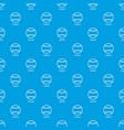 baseball pattern seamless blue vector image vector image
