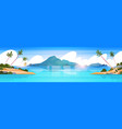 beautiful tropical beach landscape summer seaside vector image vector image