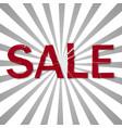 big sale in broken glass effect vector image