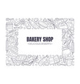 black inscription bakery shop in a white rectangle vector image vector image