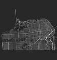 black map san francisco vector image vector image