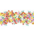 blooming flowers seamless border a lot of vector image vector image