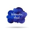Blue watercolor cloud vector image vector image