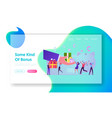 bonus card loyalty program earn reward redeem vector image vector image