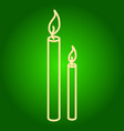 burning candles icon vector image vector image